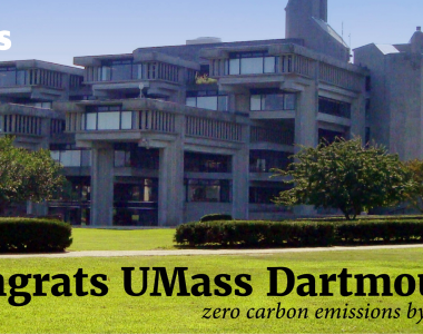 University of Massachusetts Dartmouth sets zero carbon emissions goal for 2050